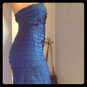 calvin klein midnight blue cocktail dress